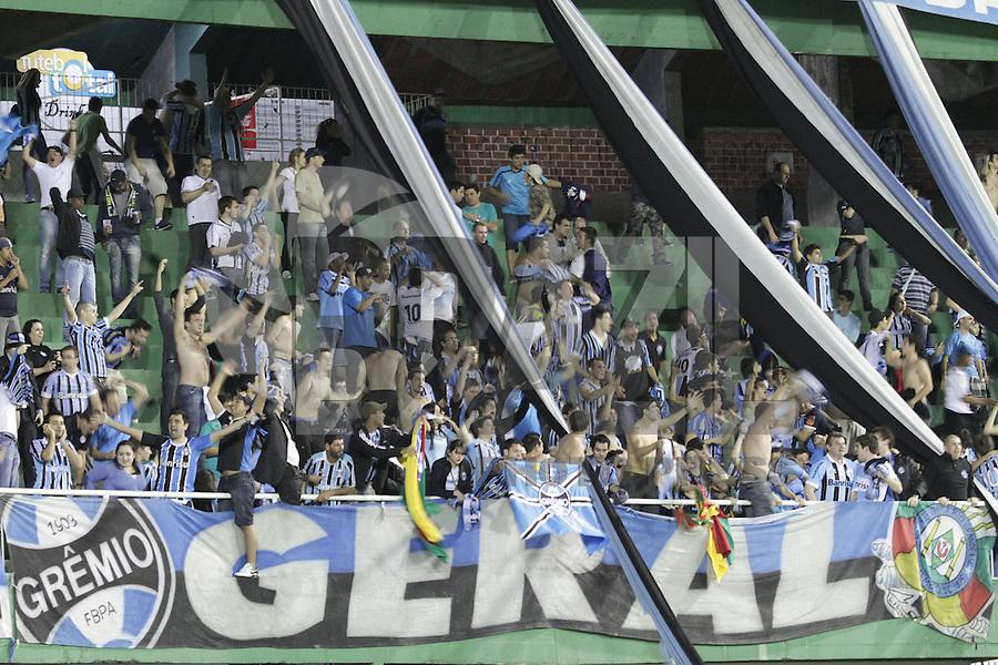 CURITIBA, PR, 22 DE AGOSTO DE 2012 – CORITIBA X GRÊMIO – Torcedores do Grêmio durante jogo contra o Coritiba válido pela Copa Sul-Americana. A partida aconteceu na noite de quarta-feira (22), no Estádio Couto Pereira, em Curitiba. (FOTO: ROBERTO DZIURA JR./ BRAZIL PHOTO PRESS)