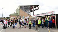Lincoln City fans queue to get in the ground ahead of the game<br /> <br /> Photographer Chris Vaughan/CameraSport<br /> <br /> The EFL Sky Bet League Two - Lincoln City v Morecambe - Saturday August 12th 2017 - Sincil Bank - Lincoln<br /> <br /> World Copyright &copy; 2017 CameraSport. All rights reserved. 43 Linden Ave. Countesthorpe. Leicester. England. LE8 5PG - Tel: +44 (0) 116 277 4147 - admin@camerasport.com - www.camerasport.com