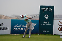 Sebastian Heisele (GER) on the 9th during Round 1 of the Oman Open 2020 at the Al Mouj Golf Club, Muscat, Oman . 27/02/2020<br /> Picture: Golffile   Thos Caffrey<br /> <br /> <br /> All photo usage must carry mandatory copyright credit (© Golffile   Thos Caffrey)