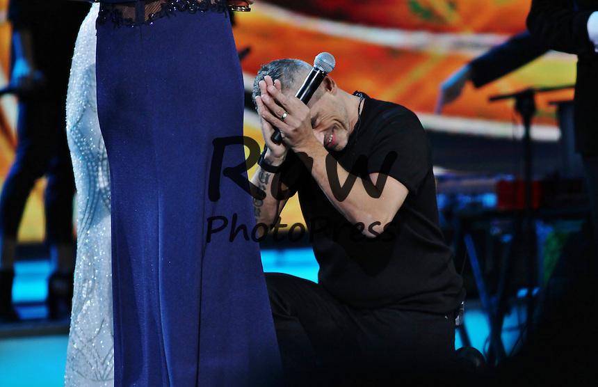 Eros Ramazzotti ha actuado durante el Festival Vi&ntilde;a del Mar.<br /> <br /> Foto&copy;2016: Rene Mendez/The Grosby Group<br /> <br /> Vi&ntilde;a del Mar, Feb 24, 2016<br /> <br /> Eros Ramazzotti performing in Vi&ntilde;a del Mar.