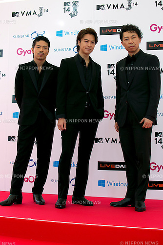 (L to R) MATSU, TAKAHIRO and USA (EXILE), June 14, 2014 : MTV VMAJ (Video Music Awards Japan 2014 at Maihama Amphitheater in Chiba, Japan. (Photo by Rodrigo Reyes Marin/AFLO)