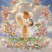 Dona Gelsinger, CHILDREN, paintings(USGE0722,#K#) Kinder, niños, illustrations, pinturas angels, ,everyday