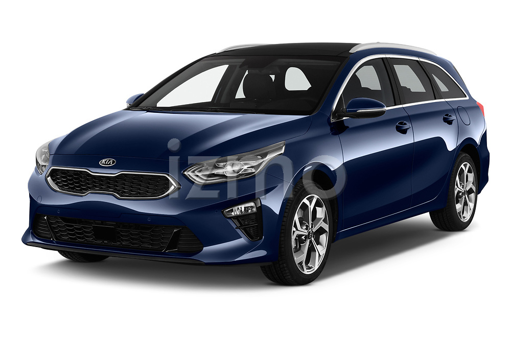 2019 KIA Ceed-SW More 5 Door Wagon Angular Front stock photos of front three quarter view