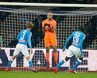 Pepe Reina during the  italian serie a soccer match,between SSC Napoli Sassuolo       at  the San  Paolo   stadium in Naples  Italy , November 28, 2016
