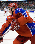 Maxim Chudinov (Russia - 27) - Russia defeated the Czech Republic 5-1 on Friday, January 2, 2009, at Scotiabank Place in Kanata (Ottawa), Ontario, during the 2009 World Junior Championship.