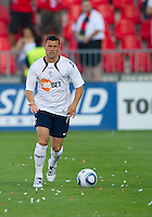 July 21, 2010  Bolton Wanderer Paul Robinson No. 4 in action during the Carlsberg Cup match between the Bolton Wanderers FC and Toronto FC at BMO Field in Toronto..Th Bolton Wanderrs FC won 4-3 on penalty kicks.