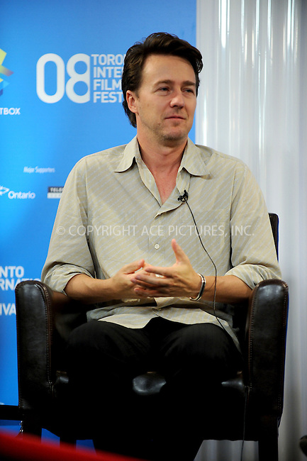 WWW.ACEPIXS.COM . . . . .....September 9, 2008. Toronto, Canada....Actor Edward Norton attends the 'Pride and Glory' Press Conference during the 2008 Toronto International Film Festival at the Sutton Place Hotel on September 9, 2008 in Toronto, Canada...  ....Please byline: Kristin Callahan - ACEPIXS.COM..... *** ***..Ace Pictures, Inc:  ..Philip Vaughan (646) 769 0430..e-mail: info@acepixs.com..web: http://www.acepixs.com