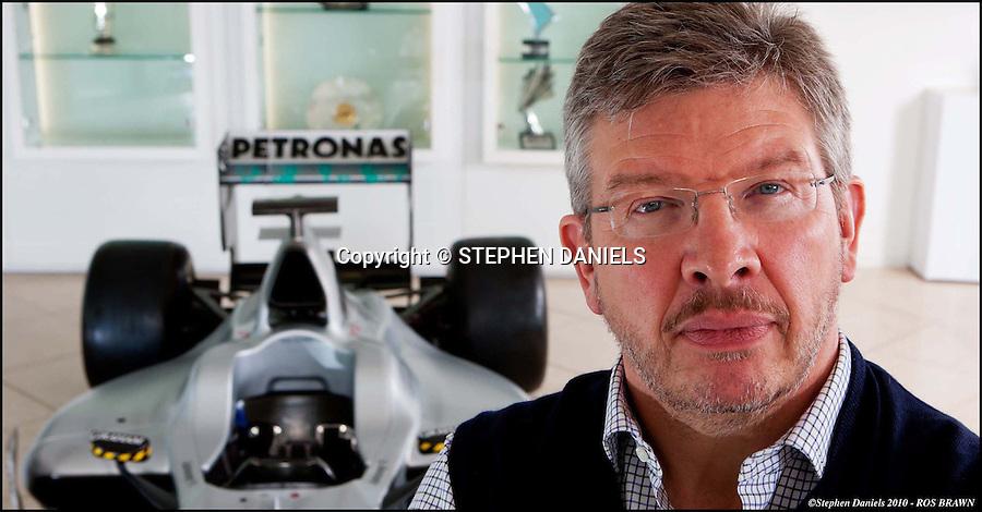 PHOTO By &copy; Stephen Daniels  2010<br /> Ross Brawn, Team Principal at Mercedes GP Petronas Formula One Team