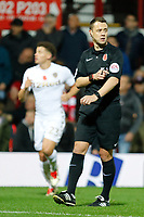 Referee, Stuart Attwell seen during the Sky Bet Championship match between Brentford and Leeds United at Griffin Park, London, England on 4 November 2017. Photo by Carlton Myrie.