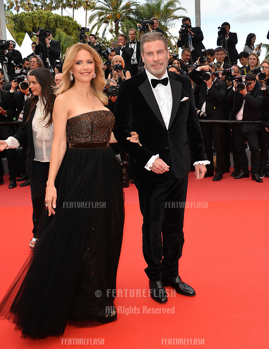 John Travolta &amp; Kelly Preston at the gala screening for &quot;Solo: A Star Wars Story&quot; at the 71st Festival de Cannes, Cannes, France 15 May 2018<br /> Picture: Paul Smith/Featureflash/SilverHub 0208 004 5359 sales@silverhubmedia.com