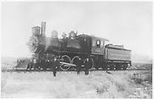 D&amp;RG train crew posing with standard gauge #707.  Location uncertain.<br /> D&amp;RG  La Veta Pass ?, CO