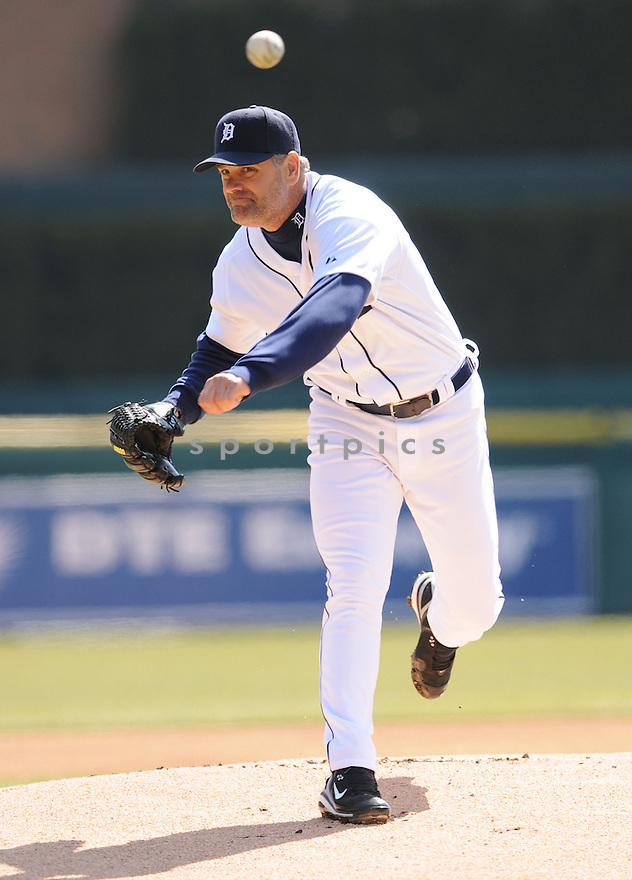 KENNY ROGERS,  of the Detroit Tigers in action  during the Tigers game against the Kansas City Royals.  The Royals beat the Tigers 4-0 in Detroit, Michigan on April 2, 2008...David Durochik