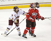 Shannon Webster (BC - 12), Brooke Fernandez (St. Lawrence - 10), ? - The St. Lawrence University Saints defeated the Boston College Eagles 4-0 on Friday, January 15, 2009, at Conte Forum in Chestnut Hill, Massachusetts.