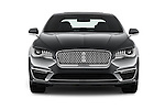 Car photography straight front view of a 2017 Lincoln MKZ Hybrid-Select 4 Door Sedan Front View