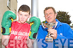 Castleisland Boxer Robert O'Brien who won a boxing tournament in Malaga, Spain last month with his coach John O'Connell