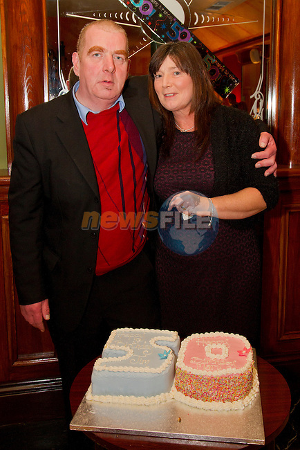 Jim and Mary Kavanagh celebrate both their 50th birthdays with a double celebration party in the Thatch.<br /> Picture: Shane Maguire / www.newsfile.ie