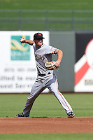 Scottsdale Scorpions infielder Kelby Tomlinson (18) during an Arizona Fall League game against the Surprise Saguaros on October 16, 2014 at Surprise Stadium in Surprise, Arizona.  Surprise defeated Scottsdale 7-3.  (Mike Janes/Four Seam Images)