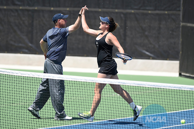 22 APR 2015: The 2015 Mountain West Women's Tennis Championship takes place at the McKinnon Family Tennis Stadium in Albuquerque, NM. Justin Tafoya/NCAA Photos