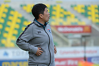 20190304 - LARNACA , CYPRUS : Thai head coach Nuengruethai Sathongwien  pictured during a women's soccer game between Italy and Thailand , on Monday 4 March 2019 at the AEK Arena in Larnaca , Cyprus . This is the third game in group B for both teams during the Cyprus Womens Cup 2019 , a prestigious women soccer tournament as a preparation on the FIFA Women's World Cup 2019 in France . PHOTO SPORTPIX.BE | STIJN AUDOOREN