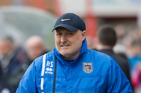 Grimsby manager Russell Slade ahead of the Sky Bet League 2 match between Cheltenham Town and Grimsby Town at the The LCI Rail Stadium,  Cheltenham, England on 17 April 2017. Photo by PRiME Media Images / Mark Hawkins.