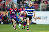 Will Homer of Bath United runs in a first half try. Remembrance Rugby match, between Bath United and the UK Armed Forces on May 10, 2017 at the Recreation Ground in Bath, England. Photo by: Patrick Khachfe / Onside Images