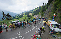 1st peloton (with race favourites) up the Mont&eacute;e de Bisanne (HC/1723m/12.4km/8.2%) led by Team Astana<br /> <br /> Stage 19:  Albertville &rsaquo; Saint-Gervais /Mont Blanc (146km)<br /> 103rd Tour de France 2016