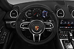 Car pictures of steering wheel view of a 2019 Porsche 718-Boxster - 2 Door Convertible Steering Wheel