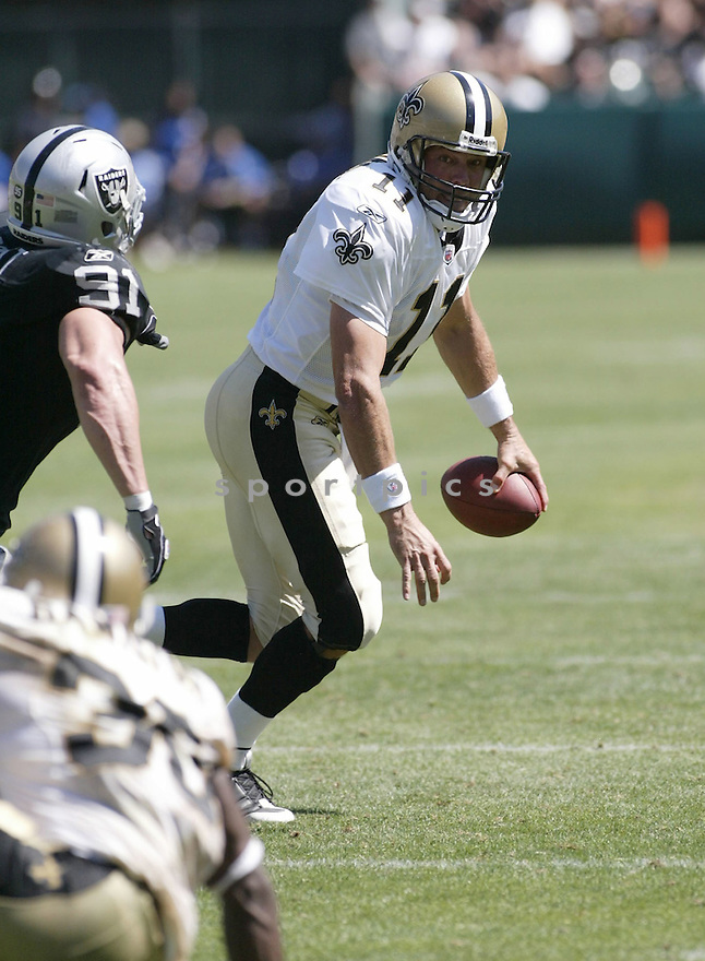 MARK BRUNELL,  of the New Orleans Saints  in action  during the Saints  game against the Oakland Raiders in Oakland, CA on August 29 2009.The Saints beat the Raider 45-7...SportPics..