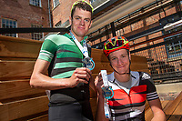 Picture by Allan McKenzie/SWpix.com - 06/05/2018 - Cycling - Maserati Human Race Sportive, Leeds, England - Johnny and Alistair Brownlee with their Maserati Tour de Yorkshire Sportive medals.