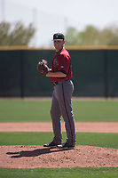 Arizona Diamondbacks relief pitcher Parker Markel (38) prepares to deliver a pitch during a Minor League Spring Training intrasquad game at Salt River Fields at Talking Stick on March 12, 2018 in Scottsdale, Arizona. (Zachary Lucy/Four Seam Images)