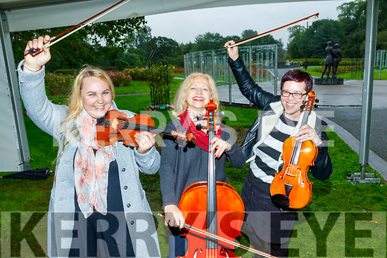 L-R Dovile Baltoniene, Tatjana Bernotaitie and Lucy White pictured at the Launch of their new music academy ' Sempre ' at the Town park, Tralee last Tuesday August 27.