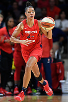 Washington, DC - August 25, 2019: Washington Mystics guard Natasha Cloud (9) brings the ball up court during second half action of game between the New York Liberty and the Washington Mystics at the Entertainment and Sports Arena in Washington, DC. The Mystics defeated New York 101-72. (Photo by Phil Peters/Media Images International)