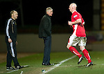 St Johnstone v Brechin...07.01.12  Scottish Cup Round 4.Jim Weir blanks Gerry McLaughlan as he leaves the pitch after being red carded.Picture by Graeme Hart..Copyright Perthshire Picture Agency.Tel: 01738 623350  Mobile: 07990 594431