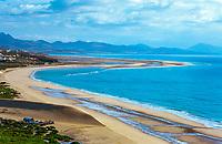 Spanien, Kanarische Inseln, Fuerteventura, Playa de Sotavento de Jandia: kilometerlanger Strand | Spain, Canary Island, Fuerteventura, Playa de Sotavento de Jandia: endless beach