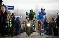 Roy Jans (BEL/Wanty-Groupe Gobert) on the Oude Kwaremont<br /> <br /> 70th Dwars Door Vlaanderen 2015