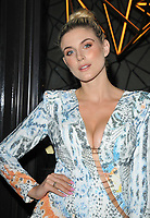 Ashley James at the Q Decades summer series of live performances launch party, Quaglino's, Bury Street, London, England, UK, on Wednesday 04 July 2018.<br /> CAP/CAN<br /> &copy;CAN/Capital Pictures