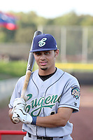 Rico Noel - 2010 Eugene Emeralds - Noel, the Padres 2010 5th round draft pick, is playing here against the Salem-Keizer Volcanoes at Volcanoes Stadium in Keizer, OR - 09/03/2010.Photo by:  Bill Mitchell/Four Seam Images..
