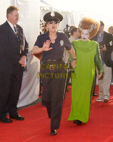 JAMIE LEE CURTIS & MARLEE MATLIN.attend the Annual Dream Halloween hosted by Children Affected by AIDS Foundation held at Barker Hangar. .full length, full-length, fancy dress costume, funny.www.capitalpictures.com.sales@capitalpictures.com.©Capital Pictures.