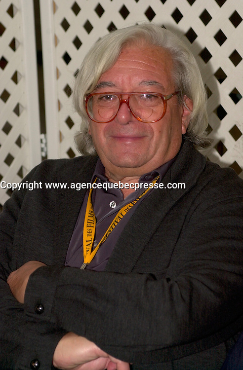 August 31 2003  Montreal, Quebec, Canada<br /> <br /> Antonio Mercero (L),  winner Best Director at the<br />  2003 Montreal World Film Festival, for his movie<br />  PLANTA 4a ( 4th Floor -  Quatri&Euml;me &Egrave;tage))<br /> In a press conference, , August 31 2003.<br /> <br /> <br /> The Festival runs from August 27th to september 7th, 2003<br /> <br /> <br /> Mandatory Credit: Photo by Pierre Roussel- Images Distribution. (&copy;) Copyright 2003 by Pierre Roussel <br /> <br /> All Photos are on www.photoreflect.com, filed by date and events. For private and media sales