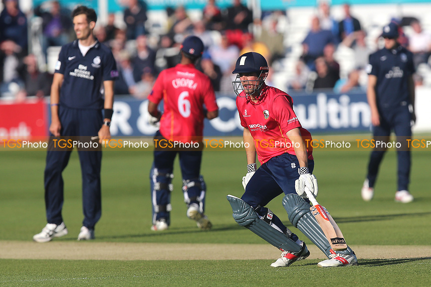 Alastair Cook adds to the Essex total during Essex Eagles vs Middlesex, Royal London One-Day Cup Cricket at The Cloudfm County Ground on 12th May 2017