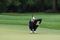 Sebastian Heisele (GER) on the 9th green during Round 2 of the Bridgestone Challenge 2017 at the Luton Hoo Hotel Golf &amp; Spa, Luton, Bedfordshire, England. 08/09/2017<br /> Picture: Golffile | Thos Caffrey<br /> <br /> <br /> All photo usage must carry mandatory copyright credit     (&copy; Golffile | Thos Caffrey)
