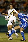 16 October 2004: Jovan Kirovski (7) and Jimmy Conrad (12) in the first half. The Kansas City Wizards defeated the Los Angeles Galaxy 1-0 at Arrowhead Stadium in Kansas City, MO in a regular season Major League Soccer game..