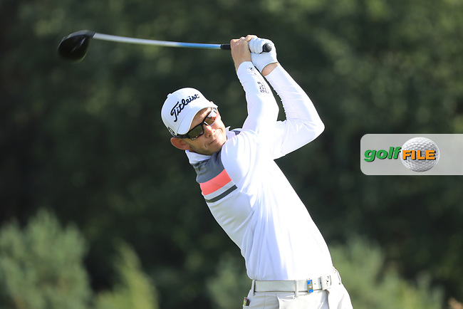 Joachim B Hansen (DEN) in action during the first round of the Porsche European Open , Green Eagle Golf Club, Hamburg, Germany. 05/09/2019<br /> Picture: Golffile | Phil Inglis<br /> <br /> <br /> All photo usage must carry mandatory copyright credit (© Golffile | Phil Inglis)