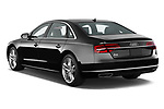 Car pictures of rear three quarter view of 2015 Audi A8 3.0T SWB quattro tiptronic 4 Door Sedan angular rear