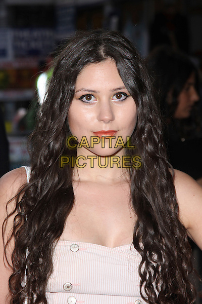 ELIZA DOOLITTLE .World Film Premiere of '4,3,2,1' at the Empire, Leicester Square, London, England, UK, May 25th 2010 4321 4-3-2-1 arrivals portrait headshot make-up eyeliner orange lipstick .CAP/AH.©Adam Houghton/Capital Pictures.