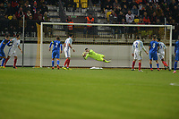 Grant Smith Of England C makes a save during Slovakia Under-21 vs England C, International Challenge Trophy Football at Mestsky Stadion on 8th November 2017