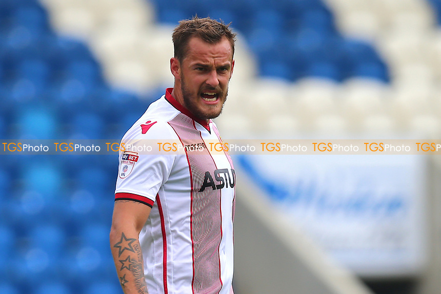 Luke Wilkinson of Stevenage during Colchester United vs Stevenage, Sky Bet EFL League 2 Football at the Weston Homes Community Stadium on 12th August 2017