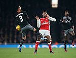 Arsenal's Jeff Reine-Adelaide gets fouled by Southampton's Maya Yoshida during the EFL Cup match at the Emirates Stadium, London. Picture date October 30th, 2016 Pic David Klein/Sportimage
