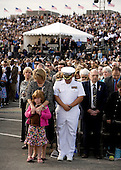 People pray during the dedication of the September 11th Memorial at the Pentagon on the 7th anniversary of the September 11, 2001 attacks on New York and Washington in Washington, DC, Thursday, September 11, 2008.<br /> Credit: Joshua Roberts / Pool via CNP