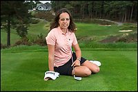 BNPS.co.uk (01202 558833)<br /> Pic: PhilYeomans/BNPS<br /> <br /> British Open golf winner Georgia Hall on the 18th tee of her local Parkstone Golf Club in Poole, Dorset, where she's been an honorary member since 2012.